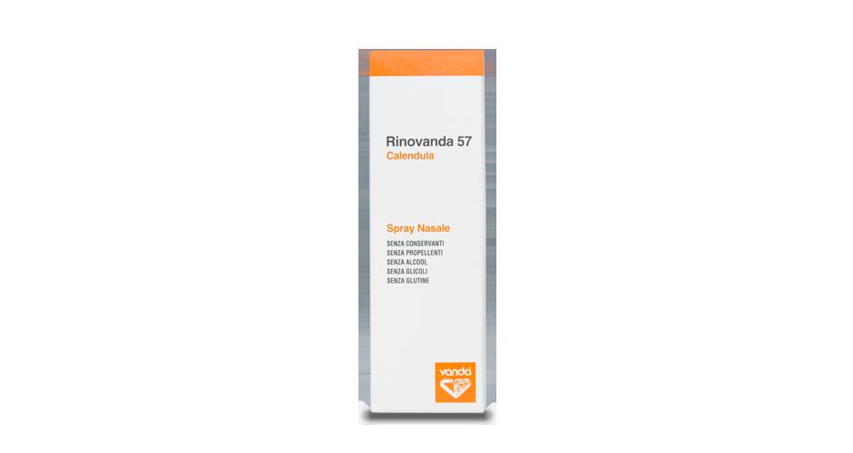 La confezione dello spray nasale Rinovanda57